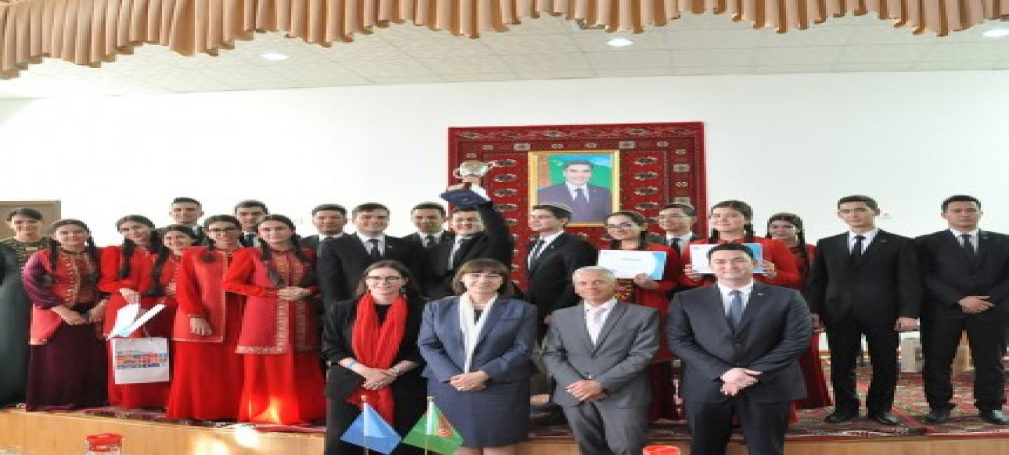 STUDENT CONTEST IN AKHAL VELAYAT DEDICATED TO UN'S DAY